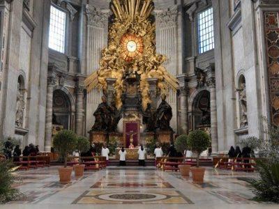 Lễ Lá trong đền thờ Thánh Phêrô 2020  (Vatican Media)